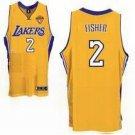 Derek Fisher #2 Yellow Los Angeles Lakers Men's Jersey