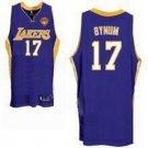 Andrew Bynum #17 Purple Los Angeles Lakers Men's Jersey