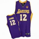 Shannon Brown #12 Purple Los Angeles Lakers Men's Jersey