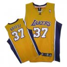 Ron Artest #37 Yellow Los Angeles Lakers Men's Jersey