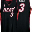 Dwayne Wade #3 Black Miami Heat Men's Jersey