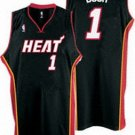 Chris Bosh #1 Black Miami Heat Men's Jersey