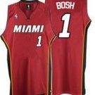 Chris Bosh #1 Red Miami Heat Men's Jersey