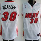 Michael Beasley #30 White Miami Heat Men's Jersey