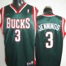 Brandon Jennings #3 Green Milwaukee Bucks Men's Jersey