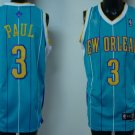 Chris Paul #3 Green with White Stripes New Orleans Hornets Men's Jersey