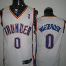 Russell Westbrook #0 White Oklahoma City Thunder Men's Jersey