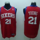 Thaddeus Young #21 Red Philadelphia 76ers Men's Jersey