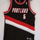 Rudy Fernandez #5 Black Portland Trailblazers Men's Jersey