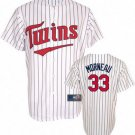 Justin Morneau #33 White Minnesota Twins Kid's Jersey