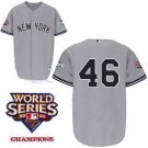 Andy Pettitte #46 Grey New York Yankees Kid's Jersey
