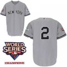 Derek Jeter #2 Grey New York Yankees Kid's Jersey