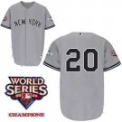 Jorge Posada #20 Grey New York Yankees Kid's Jersey