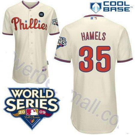 Cole Hammels #35 Cream Philadelphia Phillies Kid's Jersey