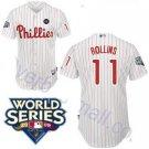 Jimmy Rollins #11 White Philadelphia Phillies Kid's Jersey