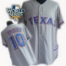 Michael Young #10 Grey Texas Rangers Kid's Jersey