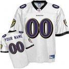 Custom Baltimore Ravens White Jersey