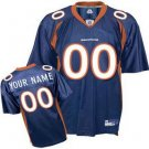 Custom Denver Broncos Blue Jersey