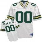Custom Green Bay Packers White Jersey