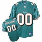 Custom Miami Dolphins Green Jersey