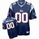 Custom New England Patriots Blue Jersey