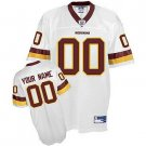 Custom Washington Redskins White Jersey