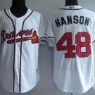 Tommy Hanson #48 White Atlanta Braves Men's Jersey