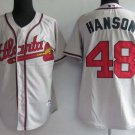Tommy Hanson #48 Grey Atlanta Braves Men's Jersey