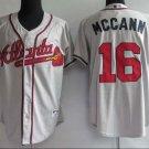 Brian McCann #16 Grey Atlanta Braves Men's Jersey