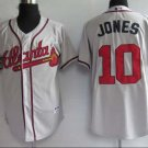 Chipper Jones #10 Grey Atlanta Braves Men's Jersey