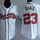 Matt Diaz #23 White Atlanta Braves Men's Jersey