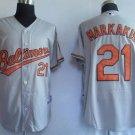Nick Markakis #21 Grey Baltimore Orioles Men's Jersey
