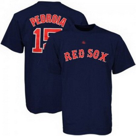 Dustin Pedroia #15 Blue Boston Red Sox Men's Jersey