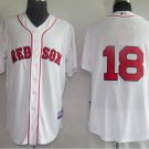 Daisuke Matsuzaka #18 White Boston Red Sox Men's Jersey