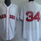David Ortiz #34 White Boston Red Sox Men's Jersey