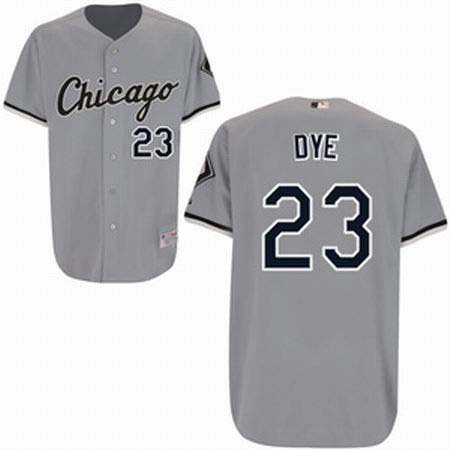 Jermaine Dye #23 Grey Chicago White Sox Men's Jersey