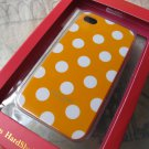 New kate spade case for iPhone 4 (Dull Orange/White Polka dots)