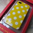 New kate spade case for iPhone 4 (Yellow/White Polka dots)