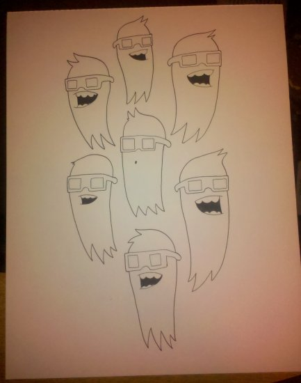3D Ghosts! Original Drawing