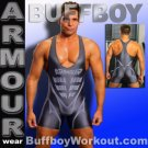 BUFFBOY Armour LYCRA WRESTLING SINGLET SPEEDSUIT GM