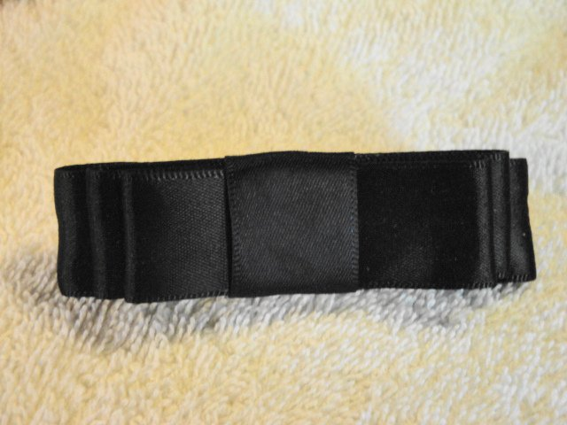 Black Satin Dior Barrette New Classy Handmade