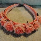 Handmade Headband Pink Satin with Florets New