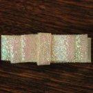 Dior style glitter bow Barrette 2inch New Handmade