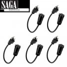 5-pack 1ft Power Strip Extension/Outlet saver - extends AC outlet useful space