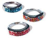 "Swarovski Crystal Ring ""CUBIC"""