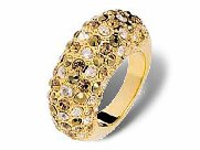 Swarovski Crystal Ring �CREOLE� Gold