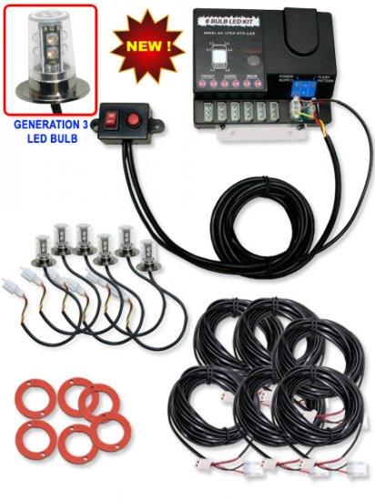 Advanced Hideaway Generation 3 LED lights (90 Watt 6 LED Set)