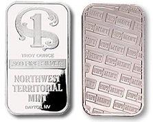 Northwest Territorial Mint Silver Bullion Bar 1 Troy Oz