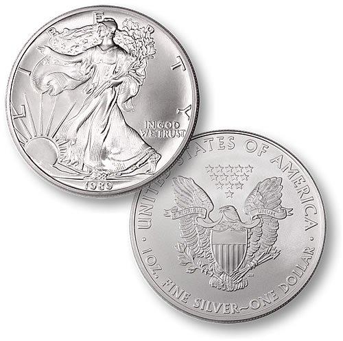 1989 American Eagle 1 Troy Oz. Silver Round, .999 Fine