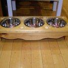 3 bowl smal elevated dog / cat feeder